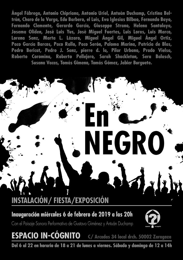 Cartel Exposición En Negro